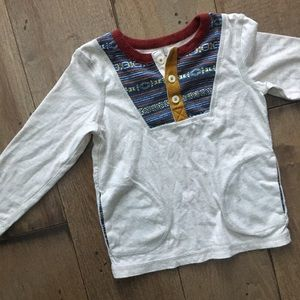 OSHKOSH GENUINE KIDS HENLEY TEE SOUTHWEST POCKETS